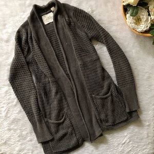 Angel of the North Grey Knit Open Cardigan